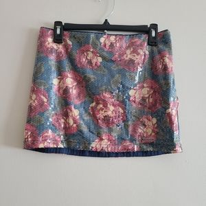 Abercrombie & Fitch  Rose Sequins Mini Skirt